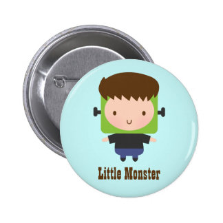 Cute Boy Frankenstein Monster Kids Halloween Button