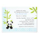 Cute Boy Panda Baby Shower 13 Cm X 18 Cm Invitation Card