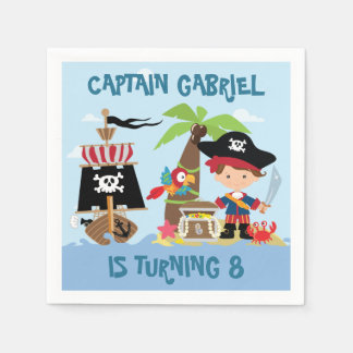 Cute Boy Pirate Paper Napkins