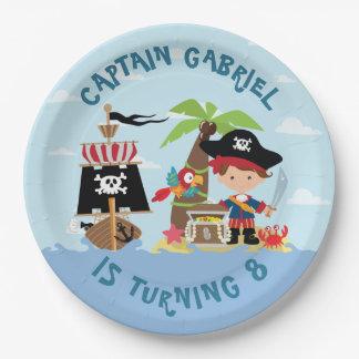 Cute Boy Pirate Paper Plate
