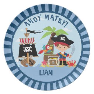Cute Boy Pirate Plate