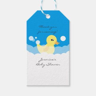 Cute Boy Rubber Ducky Baby Shower Gift Tags