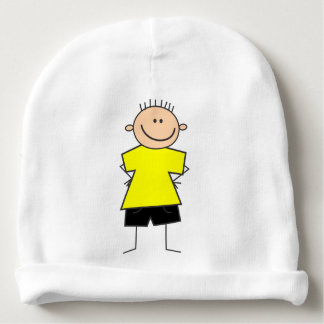 Cute Boy Stick Figure Baby Hat Baby Beanie