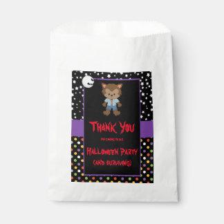 Cute Boy Werewolf Halloween Party Favour Bag