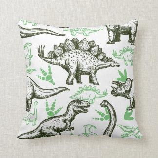 Cute Boys Sketched Dinosaurs Cushion