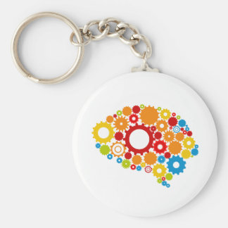 cute brain key ring