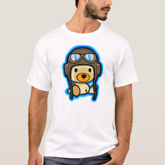 Cute brave teddy bear pilot T-Shirt