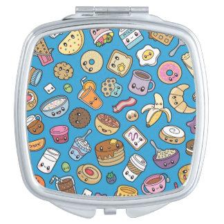 Cute Breakfast Food compact mirror