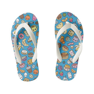 Cute Breakfast Food flip flops