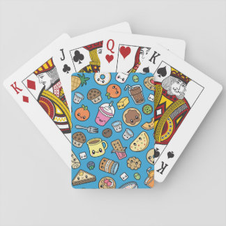 Cute Breakfast Food playing cards