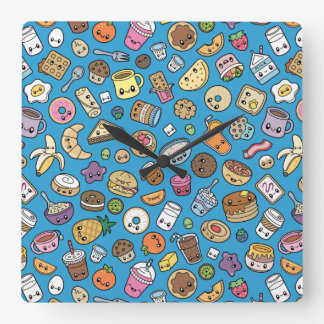 Cute Breakfast Food wall clock
