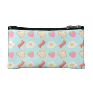 Cute Breakfast Pattern Makeup Bags
