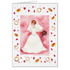Cute Bridal Shower Bride Wedding Engagement Card