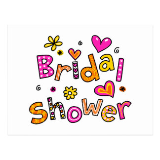 Cute Bridal Shower Greeting Text Expression Postcard