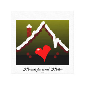 Cute Bride Groom Heart Home Love / House-of-Grosch Canvas Prints