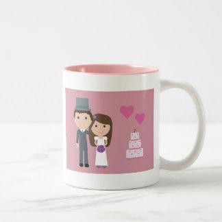 Cute bride & groom mug