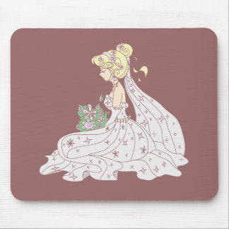 Cute Bride Mouse Pad