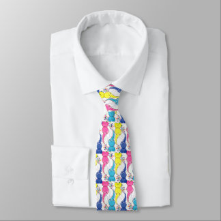 Cute bright baby elephants design tie