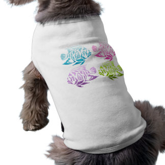 Cute Bright Bold Colorful Fish Tees and Gifts Dog T Shirt