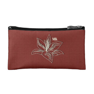 Cute Bright Burgundy Red Lily Drawing Bag