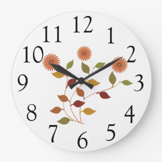 Cute Bright Daisies Flowers Floral  Wall  Clock