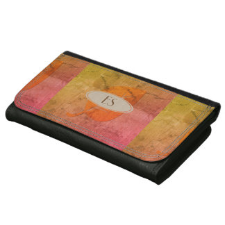 Cute Bright Fall Leaf Patchwork Style Wallet