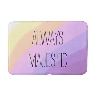 cute bright neon brushstrokes unicorn colors bath mat