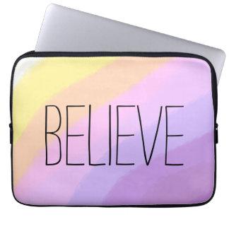 cute bright neon brushstrokes unicorn colors laptop sleeve