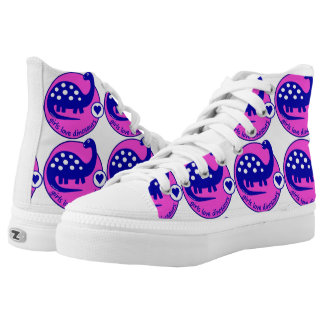 Cute Bright Pink Dinosaur for Girls | GirlMpower Printed Shoes