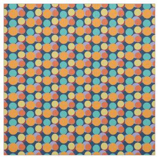 Cute Bright Polka Dots Kids Baby Pattern Blue Fabric