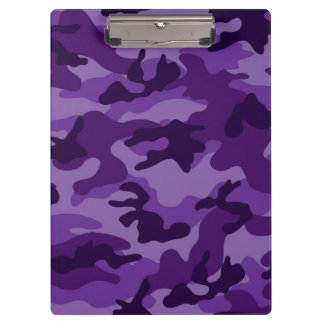 Cute Bright Purple Camo, Camouflage Clipboard