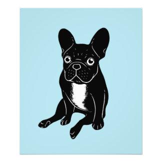 Cute brindle Frenchie in black & white digital art Photo Print