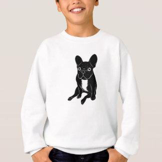 Cute brindle Frenchie in black & white digital art Sweatshirt