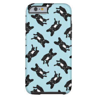 Cute brindle Frenchie in black & white digital art Tough iPhone 6 Case
