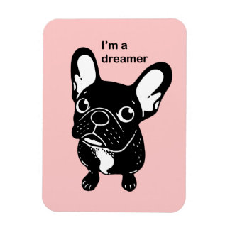 Cute brindle Frenchie is a dreamer Magnet