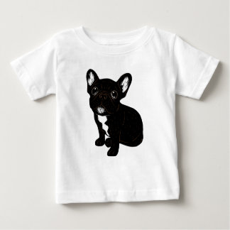 Cute Brindle Frenchie Puppy Baby T-Shirt