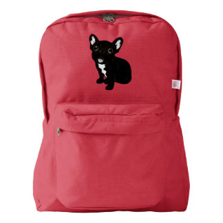 Cute Brindle Frenchie Puppy Backpack