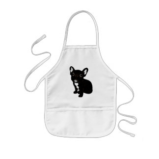 Cute Brindle Frenchie Puppy Kids Apron