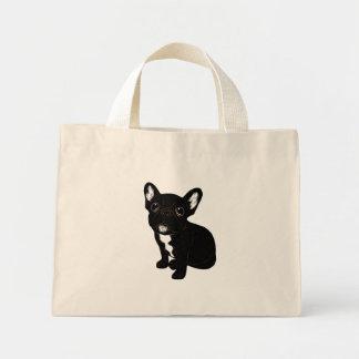 Cute Brindle Frenchie Puppy Mini Tote Bag