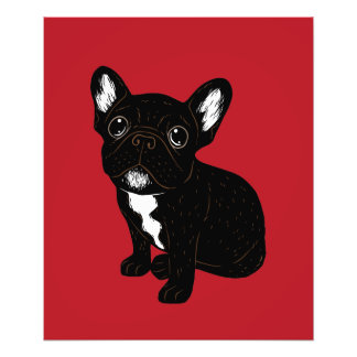 Cute Brindle Frenchie Puppy Photo Print