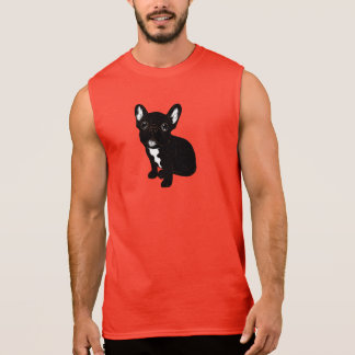 Cute Brindle Frenchie Puppy Sleeveless Shirt
