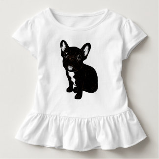 Cute Brindle Frenchie Puppy Toddler T-Shirt