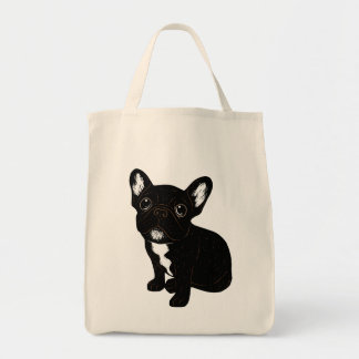 Cute Brindle Frenchie Puppy Tote Bag