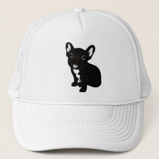 Cute Brindle Frenchie Puppy Trucker Hat