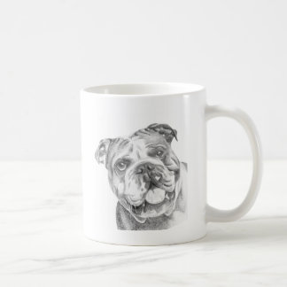 Cute British Bulldog mug by Tracy Stone