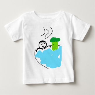 Cute Broccoli in Hot Springs Baby T-Shirt