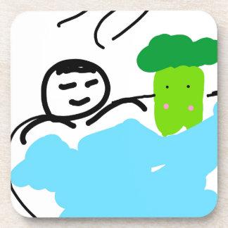 Cute Broccoli in Hot Springs Coaster