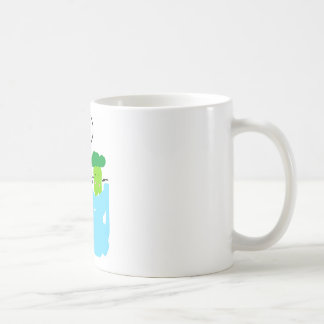 Cute Broccoli in Hot Springs Coffee Mug