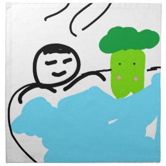 Cute Broccoli in Hot Springs Napkin