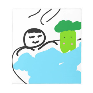 Cute Broccoli in Hot Springs Notepad